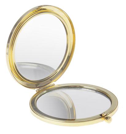 Открытое карманное зеркальце