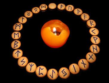 Руны вокруг свечи