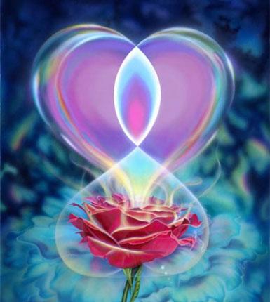 Сердечко и роза