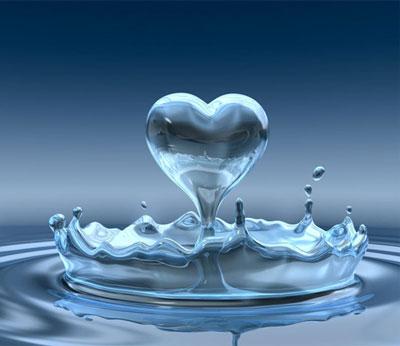 Сердечко из воды