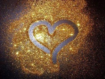 Золотистое сердечко