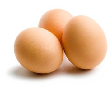 3 куриных яйца