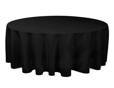 Стол с черной скатертью