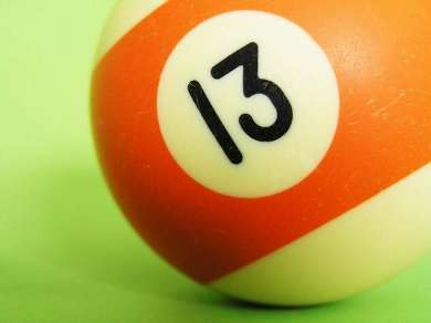 Бильярдный шар №13