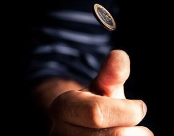 Монетка в воздухе