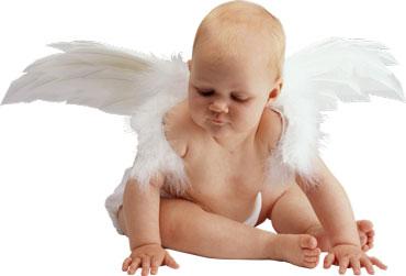 Ребенок с крыльями ангела