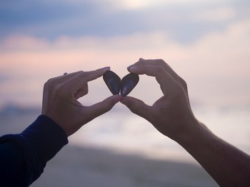 Сердце, выполненное из двух половинок