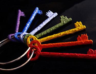 Семь ключей разного цвета