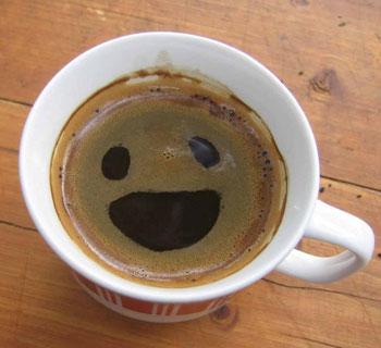 Чашка кофе со смайликом