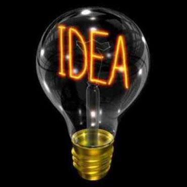 """Лампочка с надписью """"Idea"""""""
