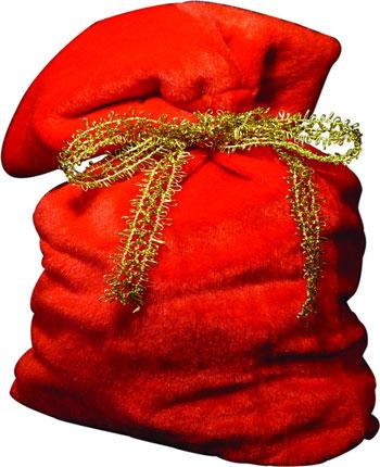 Мешочек из красной ткани