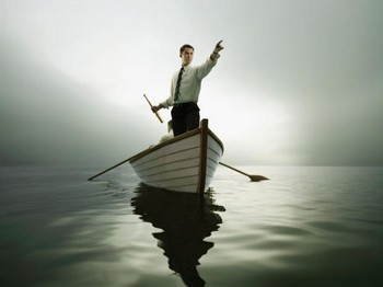 мужчина на лодке
