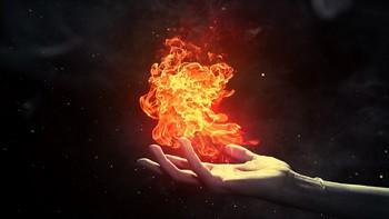 огонь на ладони