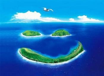 острова в форме смайлика