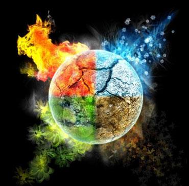 Четыре стихии ввиде планеты