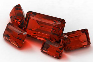 Пять камней рубина