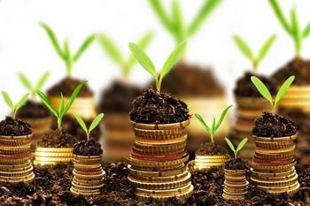 ростки на монетах