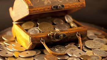 монеты в сундуке
