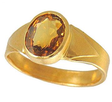 Кольцо с желтым сапфиром