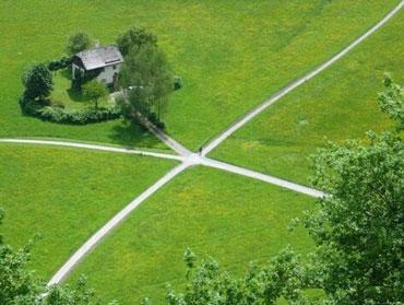 Перекресток и дом