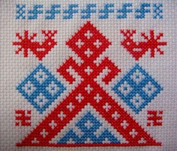 Славянский оберег вышивка Рожаница