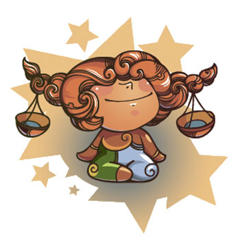 Знак зодиака Весы, рисунок