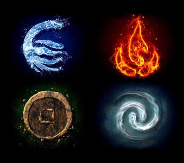 Знаки четырех стихий