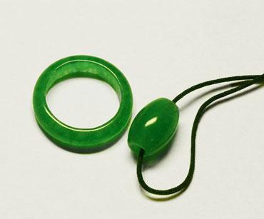 Кольцо и подвеска из нефрита