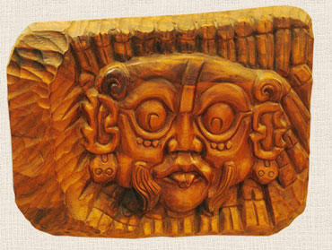 Маска солнечного бога индейцев