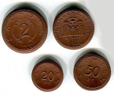 Монеты из глины