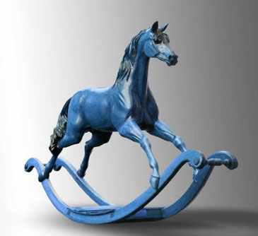 Статуэтка синяя лошадь