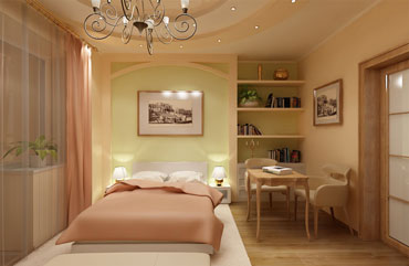 Светлая чистая спальня