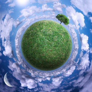 Земля в траве