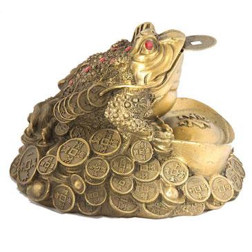 Золотая жаба талисман Фен Шуй