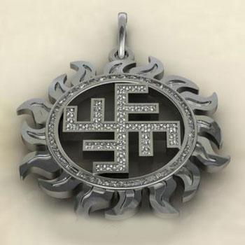 Славянский оберег Солнечный крест