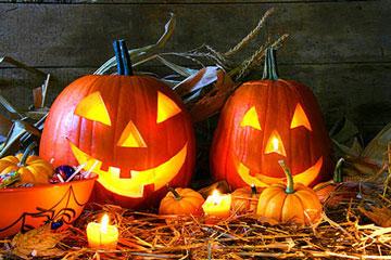 Две тыквы на Хеллоуин