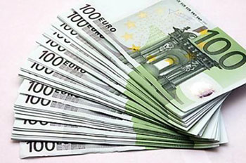 Евро лежат веером