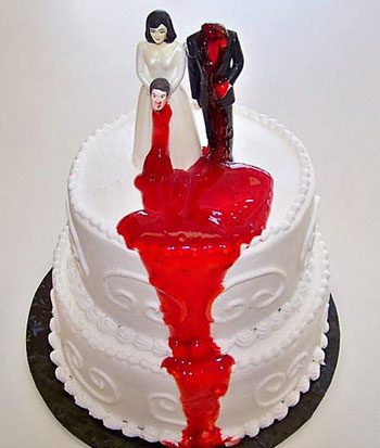 Торт, где жена оторвала голову мужу