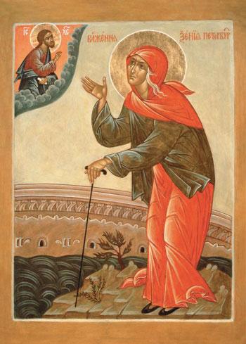 Икона Ксении Блаженной из Петербурга