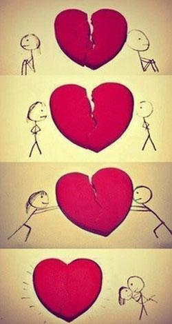 Комикс про скленное сердце