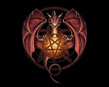 пентаграмма и дракон