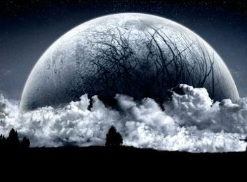 Луна крупно