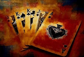 Пять игральных карт разных мастей