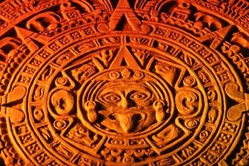 Каменный календарь племени Майа
