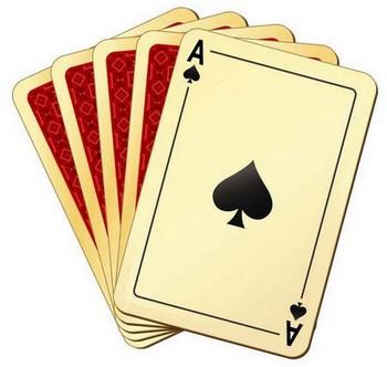 Игральные карты и туз пикей
