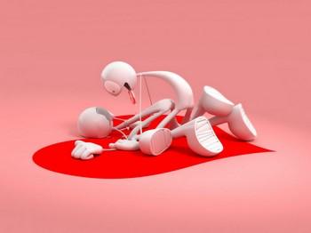 Два робота на сердечке