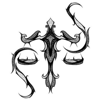 Татуировка знака Зодиака Весы
