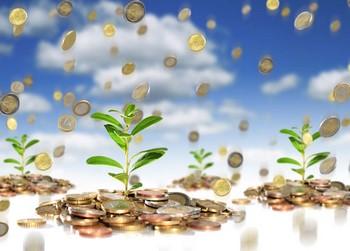 Падающие монетки на ростки