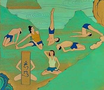 Рисунок поз йоги