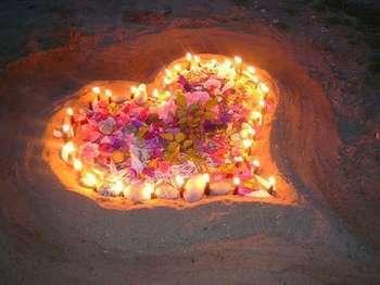 Сердечко из свечей